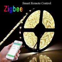 Zigbee LED smart strip lights, app control, remote control, work with zigbee hub, free shipment