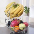 Metal Fruit Banana Hanger Wire Tree Vegetable Basket Counter Storage Hook Home Kitchen Drain Bowl Chrome Container Accessories