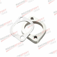 A Set of 2.5 Inch 2 Bolt Exhaust Pipe Flange and Gasket High Performance US