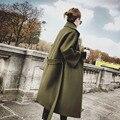 Casaco de lã das Mulheres 2017 Novo Cashmere Senhora Misturas de Trincheiras Casaco Menina Primavera Outono Inverno projeto Longo Qualidade