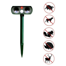 Solar Animal Repeller Ultrasonic Waterproof Deterrent Garden Supplies