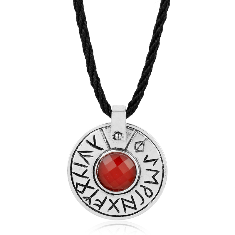 Movie Jewelry the seventh son Engraved Witch Ultimate Magic Rune Round Pendant Necklace Movie Jewelry -30