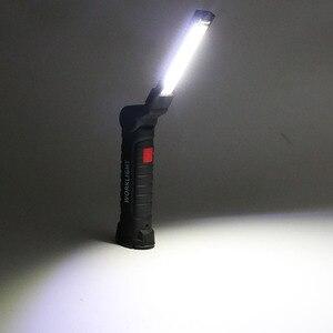 Image 5 - 5 모드 휴대용 LED 충전식 손전등 마그네틱 토치 LED 작업 빛 COB 검사 램프 야외 캠핑 작업 자동차에 대 한