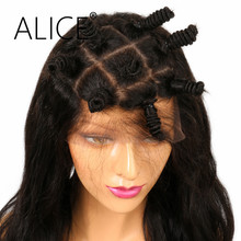 ALICE Wig Body Wave Pre Plucked Full Lace Human Hair Wigs 130 Density Natural Color Brazilian Remy Hair Wigs Bleached Knots