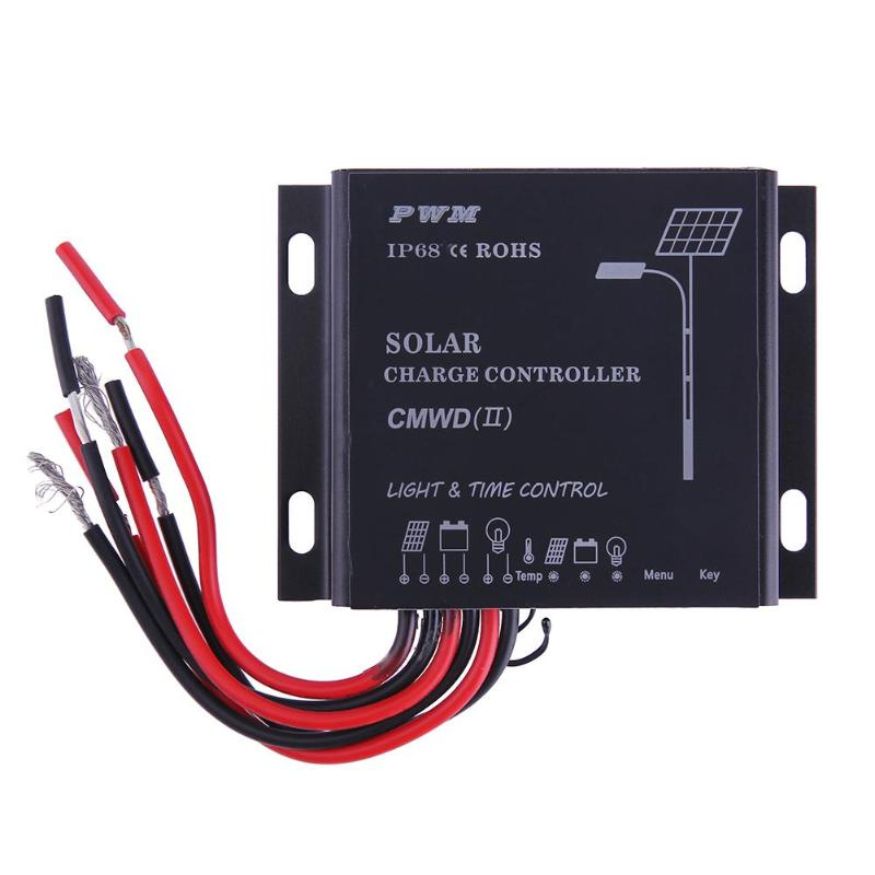 Waterproof IP68 LED 10A/20A PWM Solar Panel Charge Regulator Controller 12-24V Auto Switch Timer with Auto,Manua,Debug Mode 17
