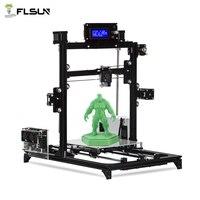 Flsun I3 3d принтер Auto Level DIY 3D Printer комплект печать Размеры 200*200*220 мм Высокая точность двойной Z двигатели с подогревом кровать Поддержка