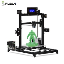 Flsun I3 3d Printer Auto Level DIY 3D-Printer Kit Printing Size 200*200*220mm High Precision Double Z Motors Heated Bed Support new type lj 320p flora printer paper auto feed motors