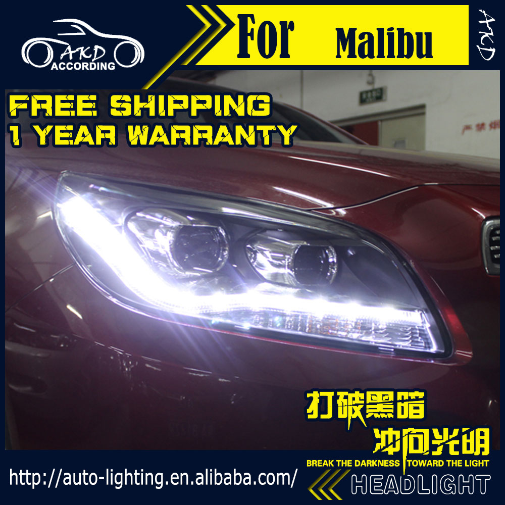 Akd car styling head lamp for chevrolet malibu led headlight 2011 2015 malibu led drl