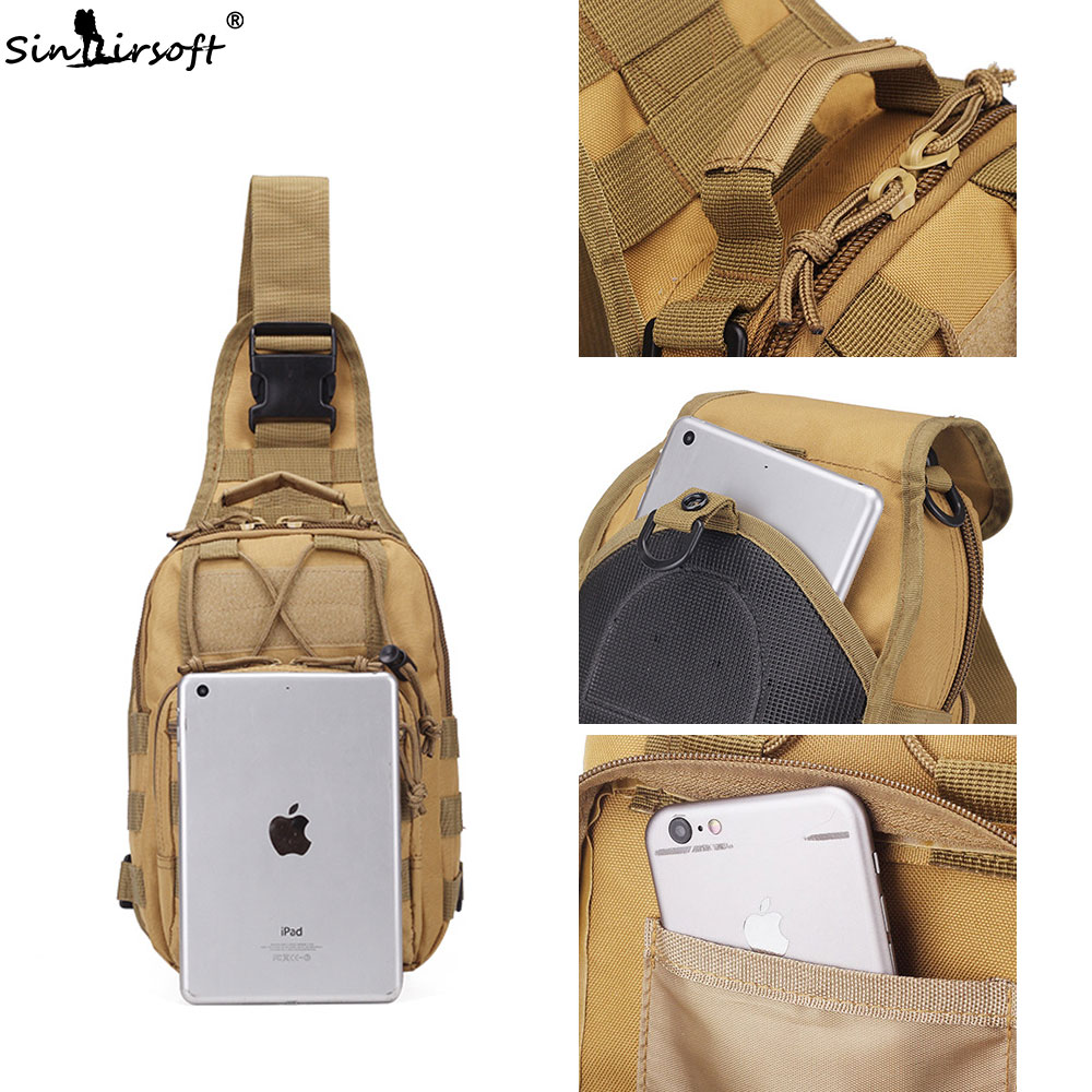 Camping & Hiking Sinairsoft Military Tactical Chest Pack Fly Equipment Nylon Wading Chest Pack Cross Body Sling Single Shoulder Bag Ly0014 Climbing Bags