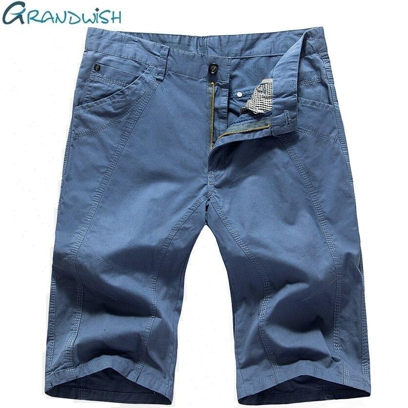Grandwish Plus Size 29-40 Mens Shorts Casual Bermuda Mens Solid Cargo Shorts Men Cotton Fashion Men Short Large Size,DA712
