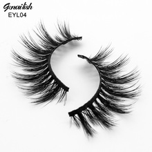 Genailish Mink Eyelashes 3D Eyelashes HandMade Thick Mink Lashes Natural False Eye Lashes Long with High Quality-EYL04