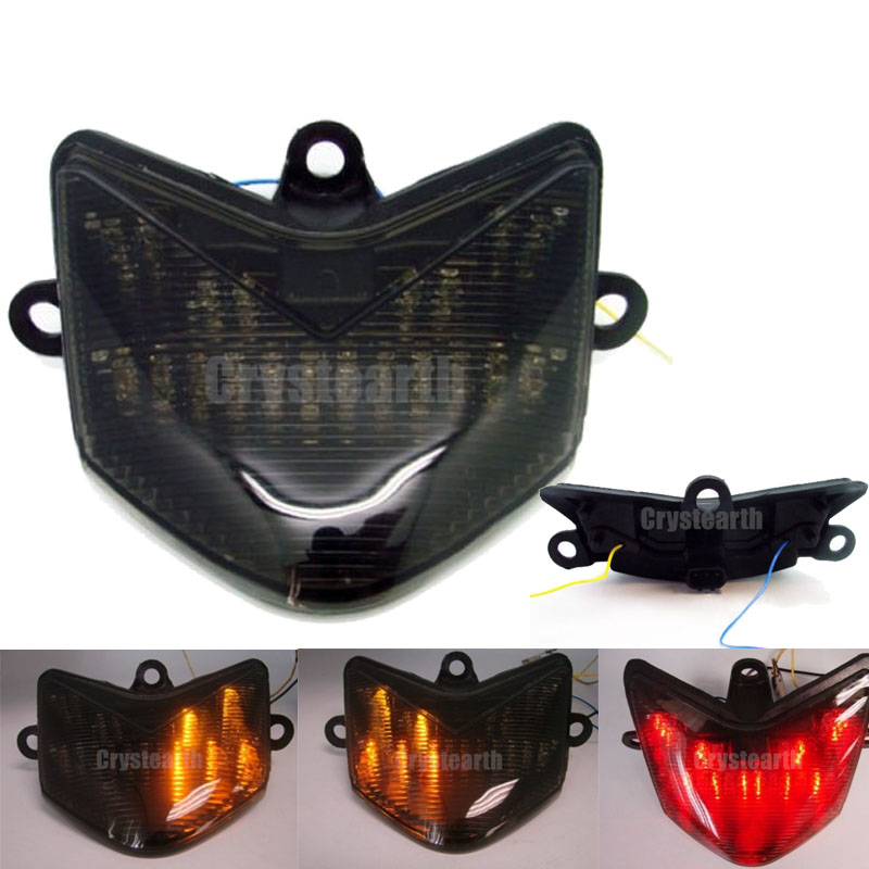 New Motorcycle Smoke Lens Rear Tail Light Integrated LED Brake Turn Signals Taillight For Kawasaki ZX10R ZX-10R ZX 10R 2004 2005