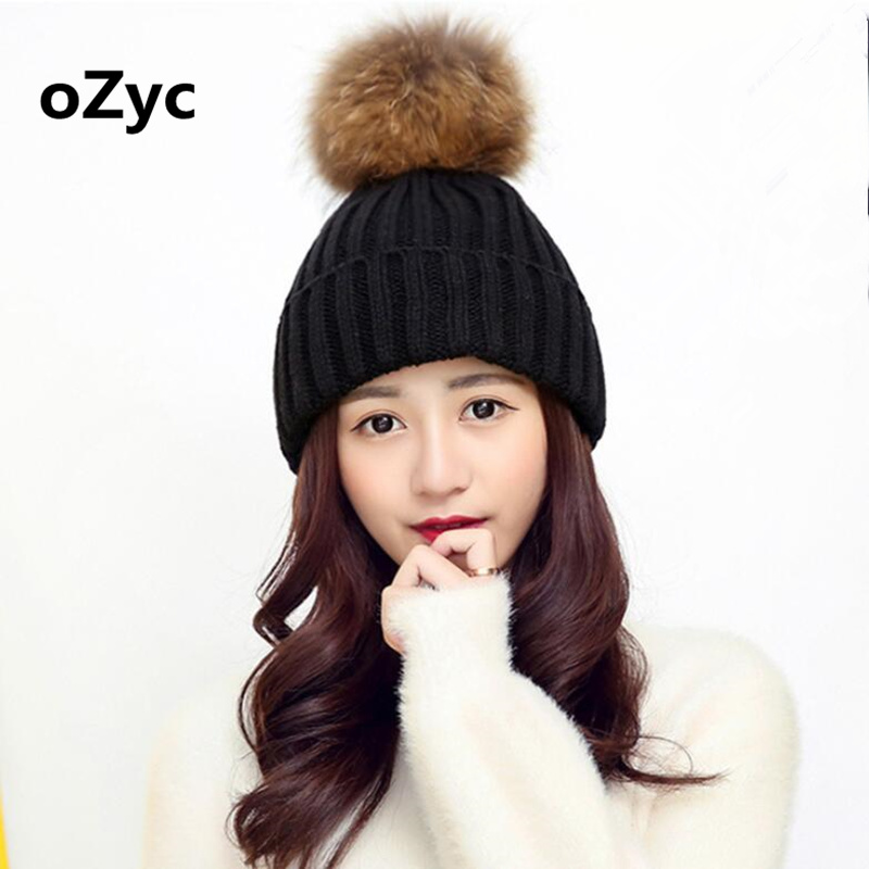 2017 high quality mink fur ball cap pom poms winter hat for women girl 's hat knitted beanies cap brand new thick female cap fetsbuy mink fur ball cap gray pom poms winter hat for women girl s wool hat knitted cotton beanies cap brand thick female cap