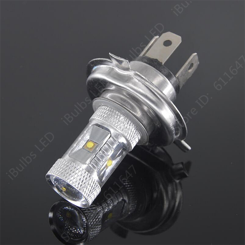 2pcs Newest H4 Xenon White H4 High Power Fog Light Driving light DRL Replace Xenon Halogen Lamps