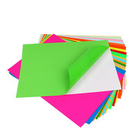 100 Pcs Colorful A4 Adhesive Sheets Floral Sticky Self Backed Craft Paper DIY Manual Embossed Paper