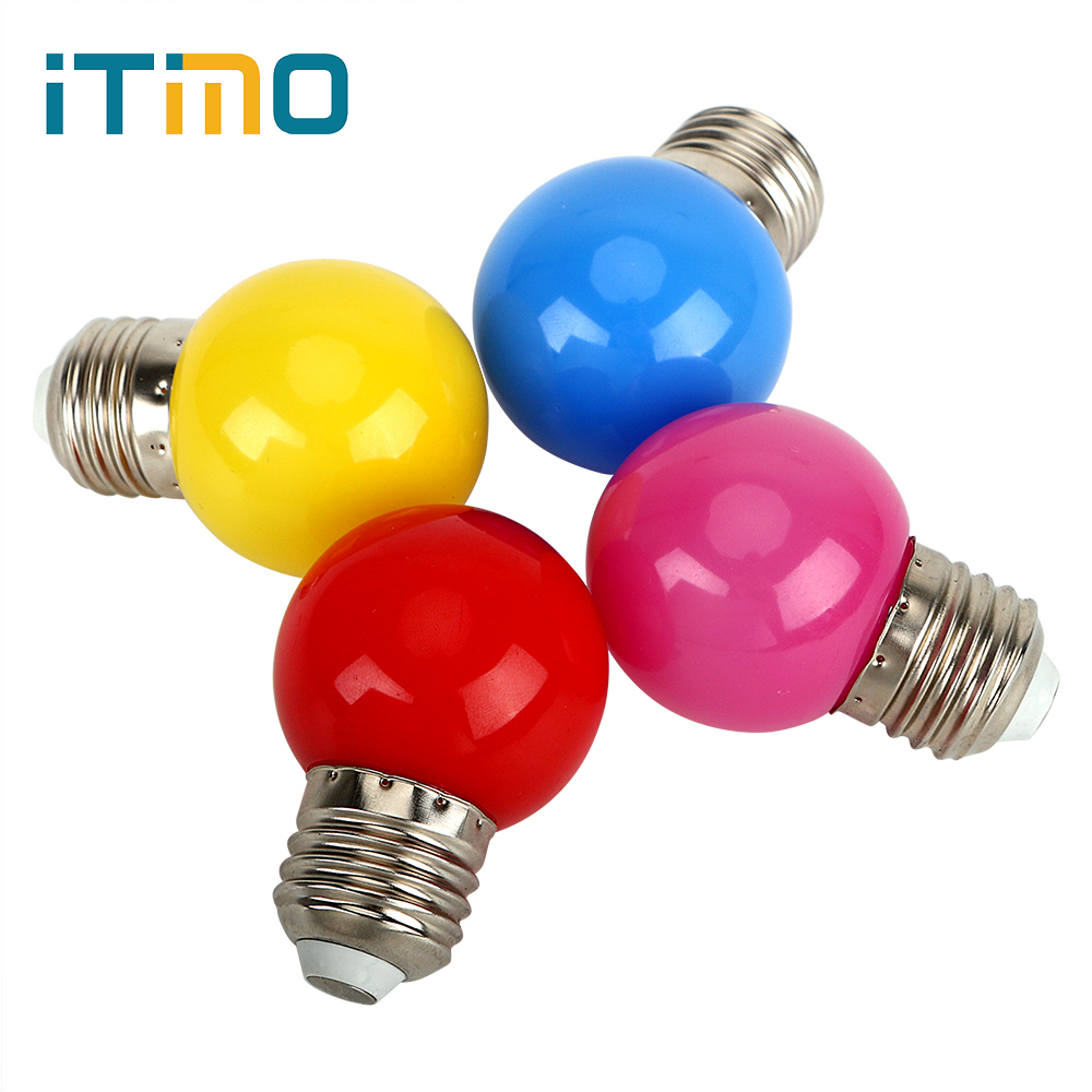 ITimo Party Lighting Holiday Light E27 0.6W LED Bullbs Indoor Decoration Lighting 4 Color 220V Color Light Bulb