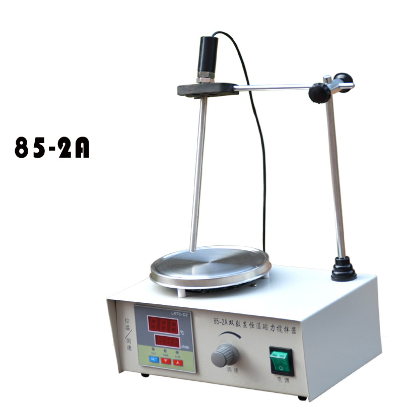 Lab Magnetic Stirrer with heating plate hotplate and Temperature dispaly 220V 85-2A constant temperature new 220v magnetic stirrer instrument temperature dispay with heating plate hotplate mixer