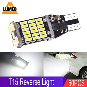 50x T15 W16W светодиодный светильник заднего хода 920 921 912 Canbus высокий светильник 45 4014 СВЕТОДИОДНЫЙ парковочный светильник