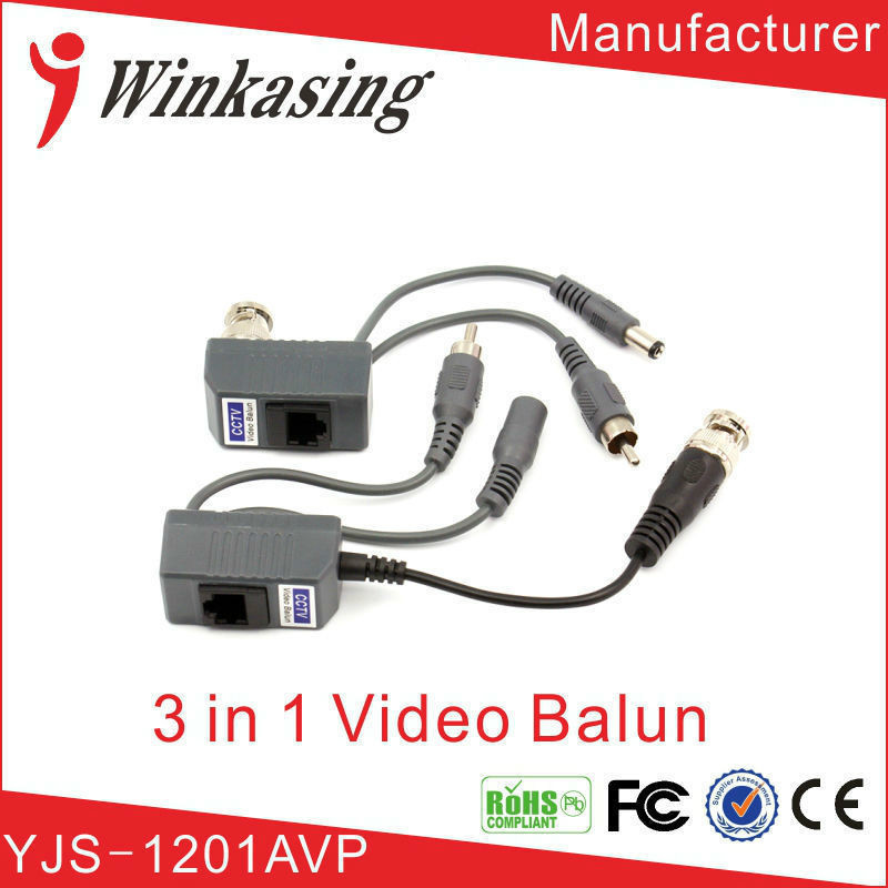 CCTV Camera Passive Audio Video Balun Transceiver BNC UTP RJ45 Video Balun Audio Video Power over CAT5 Cable Transmitter 1Pair 5pairs video balun transceiver bnc utp rj45 video balun and power over cat5 5e 6 cable for cvi tvi ahd 720p camera up to 300m