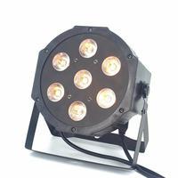 CREE RGBW 7x18 Вт светодиодный плоский тонкий RGBWA УФ свет 6в1 светодиодный DJ мыть свет сценический прожектор dmx лампа 6/10 channes