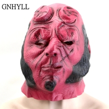 GNHYLL Superhero Hellboy Masks Horror Movie Cosplay Adult Latex Mask for Halloween Horrible Mask Party Mask sf 13 fixed with zipper party masks cross dressing rubber latex mask adult games mask sex dolls female mask sissy boy