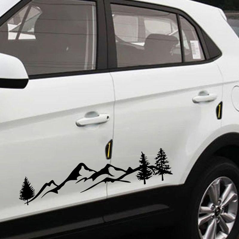 1Pc*100cm Tree Mountain Decal Scene Large Northwest Car Sticker Truck RV Offroad