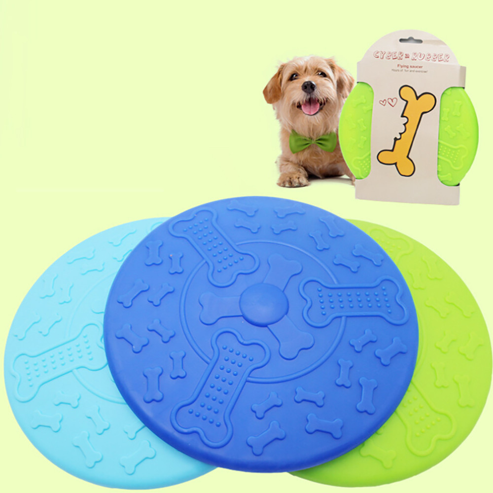 Outdoor Soft Eco-friendly Silicone Rubber Dog Frisbee Pet Tooth Resistant Fetch Toys Dogs Training Flying Disc Playing Toy