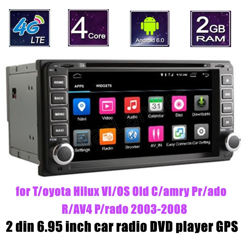 android 6 0 radio quad core car dvd player stereo for. Black Bedroom Furniture Sets. Home Design Ideas