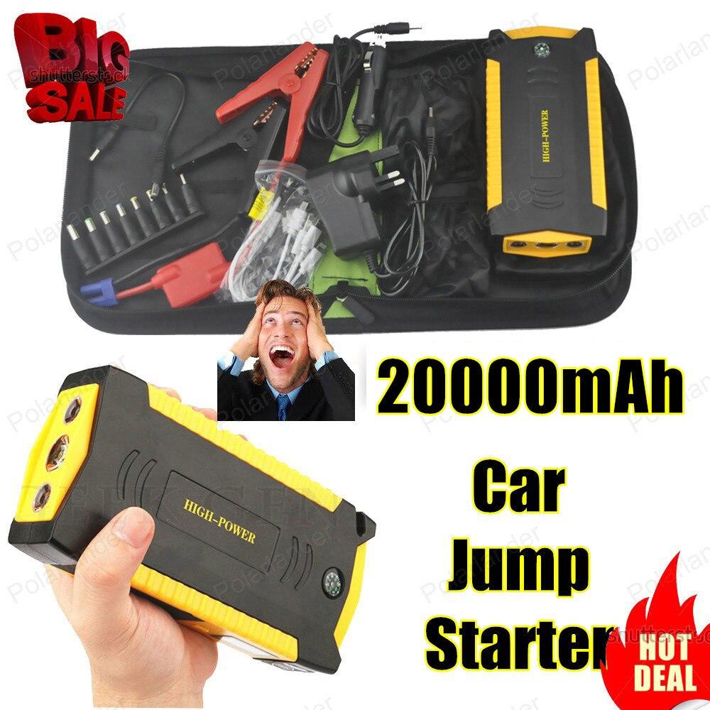New 20000mAh Peak Car Jump Starter Mini Portable Emergency Car Battery Charger Power bank arrancador bateria