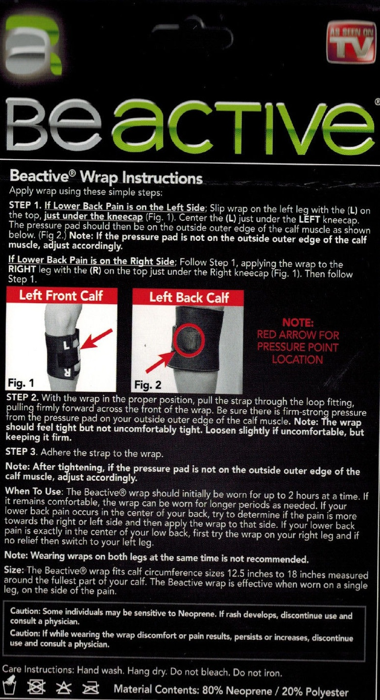 how to put on be active leg brace