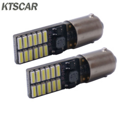 10X Car LED BA9S t4w h6w ba9 t11 Canbus 24 SMD 4014 LED auto Bulb No error led parking  car styling Light