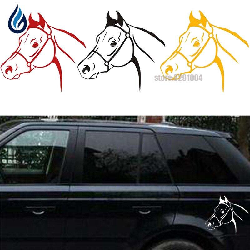 15*17cm Horse Head Decal Animals Car Or Truck Window Latop Decal Sticker For Vw Golf 4 Peugeot 206 Skoda Octavia Volvo Subaru XV