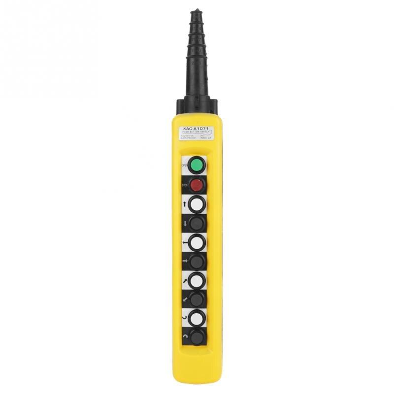 XAC-A1071 500 v Grue Palan À Chaîne Push Bouton Interrupteur De Levage Pendentif Contrôleur avec D'arrêt D'urgence IP54 IP Note
