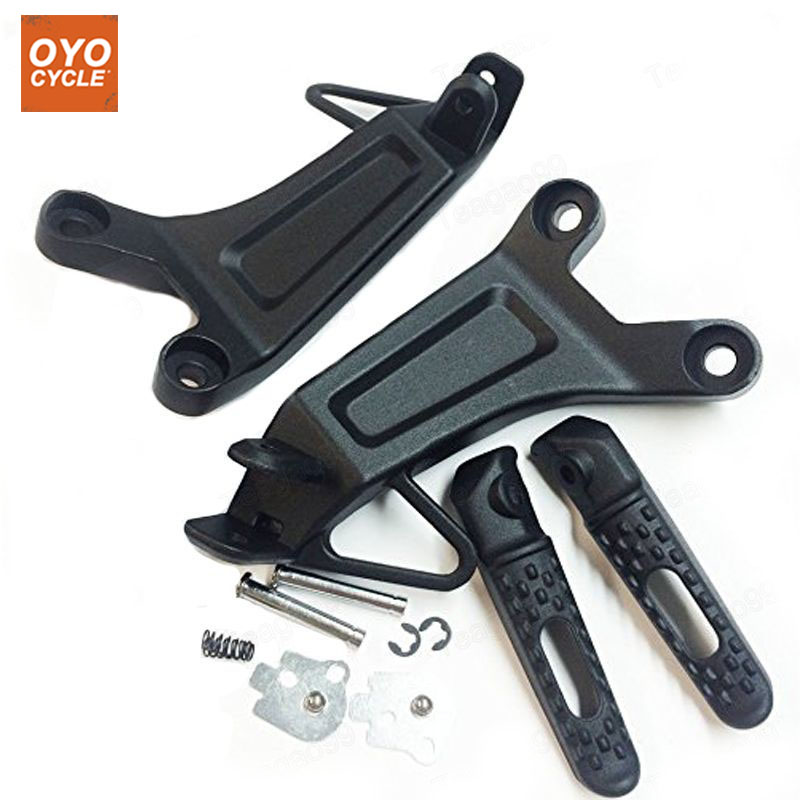 Rear Passenger Foot Pegs For Honda CBR 600 RR 2003 2004 Bracket Footrests Footpegs CBR 600RR Foot Rests