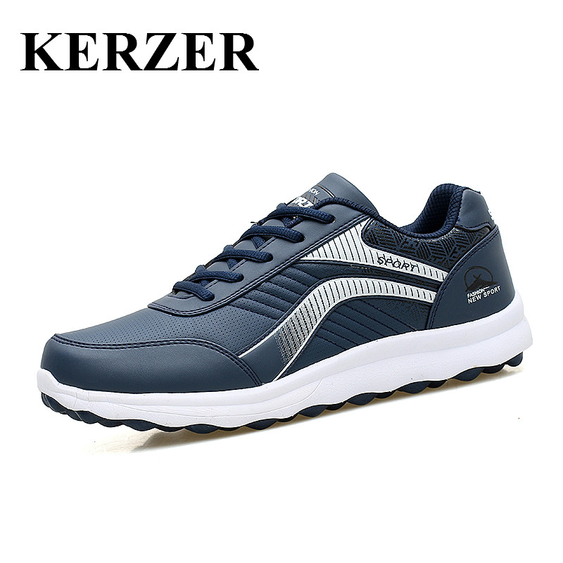 KERZER New 2017 Running Shoes Men Sport Shoes Leather Walking Jogging Shoes Men Spring/Autumn Athletic Sneaker Cheap Trainers genuine for lenovo thinkpad e440 e540 laptop cpu cooling fan heatsink 04x4157