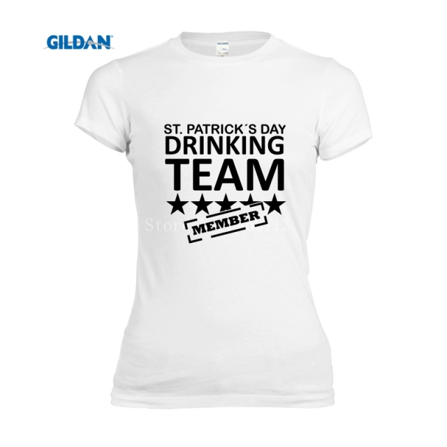 26e1a232 top tee cute t shirt st patricks day drinking team member Sexy Thin t shirt  fashion