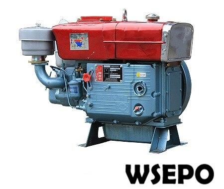 Прямая поставка с фабрики! WSE S195 одноцилиндровый 12hp горизонтальные с водяным охлаждением 4 тактный дизельный двигатель применяется для насо