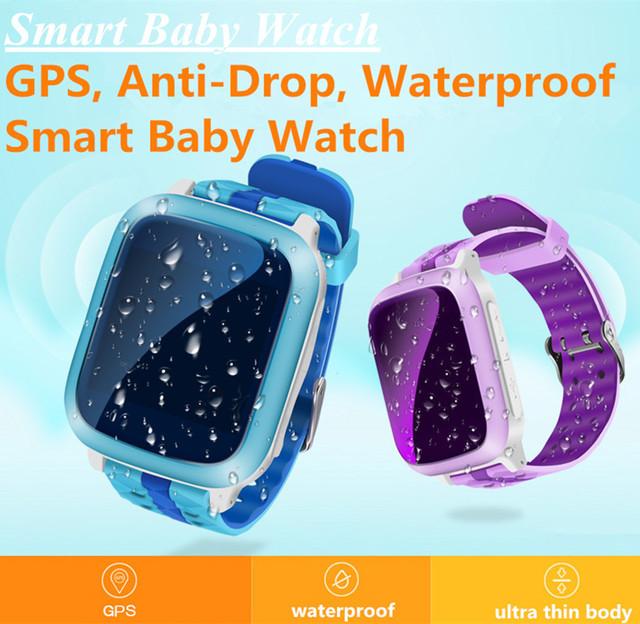 Q7 Bebé Inteligente Reloj PK Q80 Q50 Niños Elegante Wtach Localización GPS SOS Llamada Perdida Anti Rastreador Smartwatch IP67 A Prueba de agua