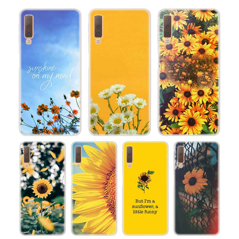 Silicone Phone Case Sunfowers fantasy show Printing for Samsung Galaxy A8S A9 A8 Star A7 A6 A5 A3 Plus 2018 2017 2016 Cover image
