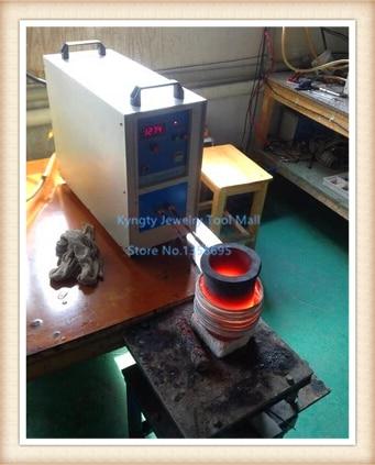 все цены на Jewelry Making Equipment High Frequency 220V 15KW 2 kg Gold Metal Induction Mini Melting Furnace онлайн