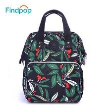 Findpop большой Ёмкость женщины рюкзак Новинка 2017 года Многофункциональный зеленый мумия путешествия рюкзак пеленки мешок школьные рюкзаки для подростка
