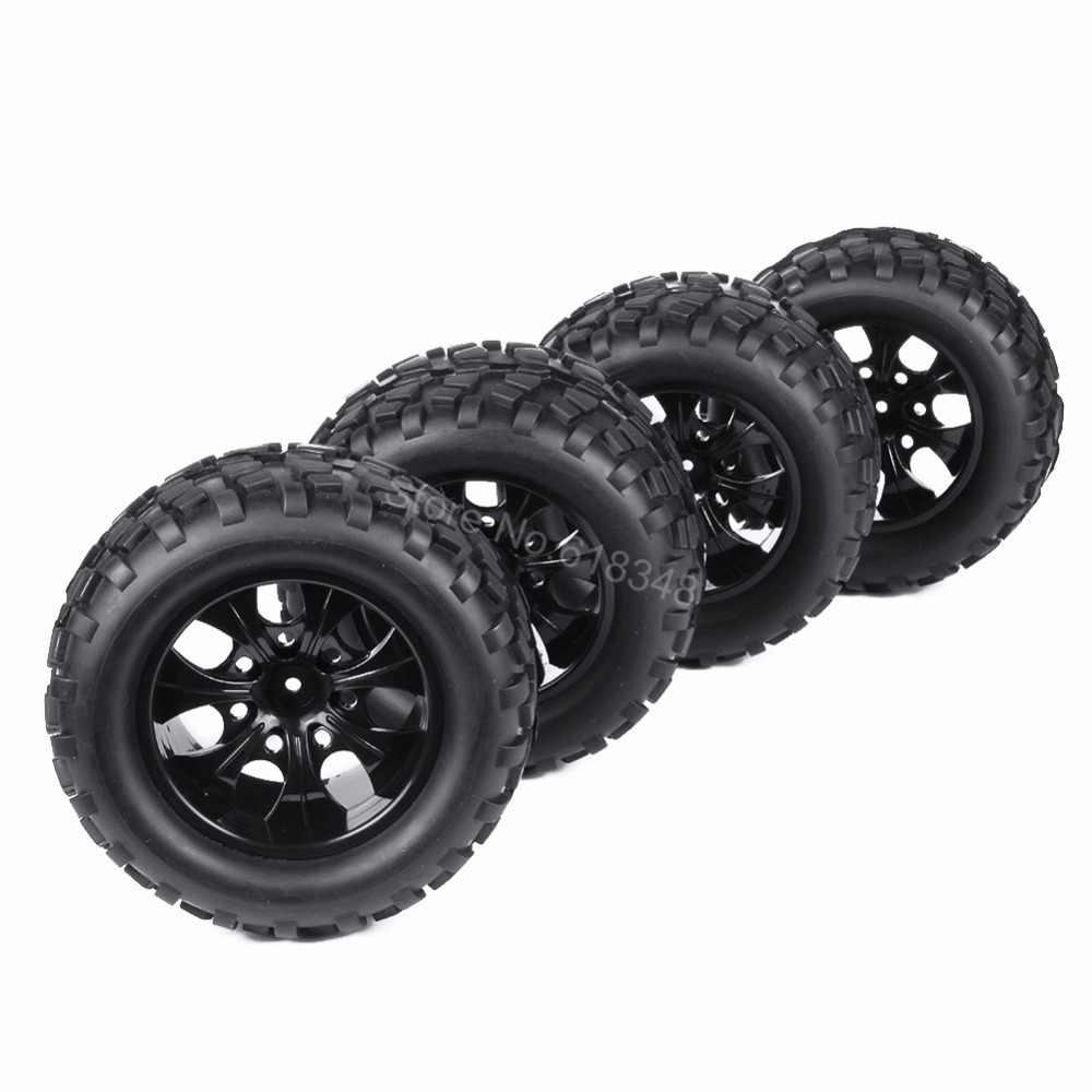 4X RC Ban & Roda Nilon Velg Busa Sisipan 12 Mm Hex untuk HSP 1/10 Truk Monster RedCat Gunung Berapi Epx pro S30 Blackout XTE Mobil