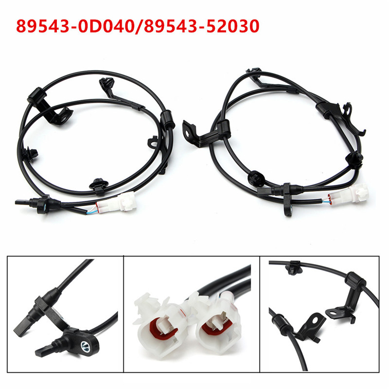 Pair Front Left & Right ABS Wheel Speed Sensor For Toyota /Yaris /Scion XD 89543-52030 /89543-0D040