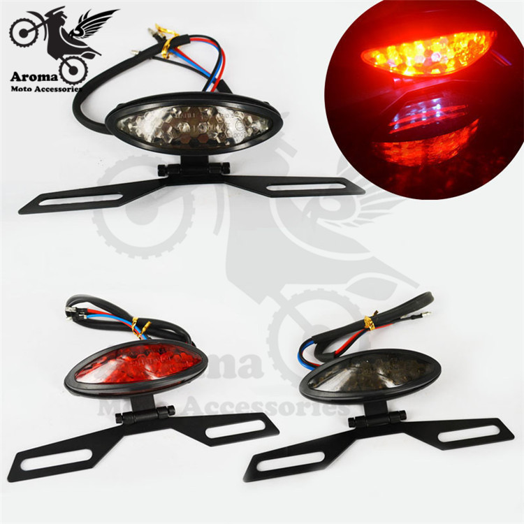 hot red lighting ATV Off-road dirt pit bike rear brake motorcycle LED moto tail light universal motorbike warning signal light