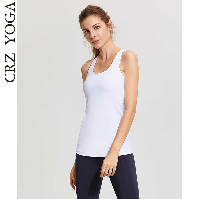 a4a8b13d9cee0 Detail Feedback Questions about CRZ YOGA Women s Workout Compression Long  Racerback Tank Top on Aliexpress.com