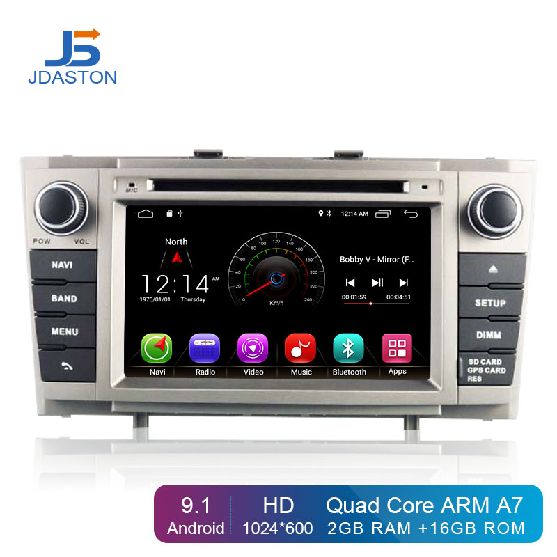 JDASTON <font><b>Android</b></font> 9.1 Car Multimedia Player For <font><b>Toyota</b></font> Avensis/<font><b>T27</b></font> 2008-2013 2 Din Car Radio GPS Navigation DVD CD IPS Stereo WIFI image