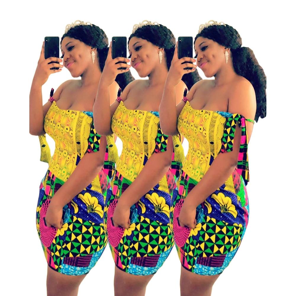 Colorful Graffiti Print Strapless Mini Dress Summer Women Casual Sheath Slim Sleeveless Summer Dress Bodycon Vintage Party Dress