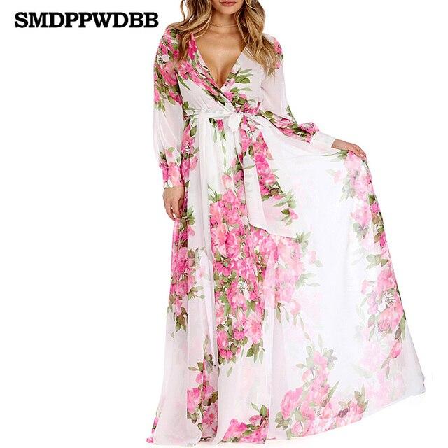 a72769fee4 Women maternity Sexy Beach Dress Summer Floral Print long Maternity Dress  Maternity Photography Props V-
