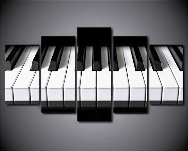 Posters In Interieur : Stuks interieur canvas art piano toetsen hd gedrukt muziek
