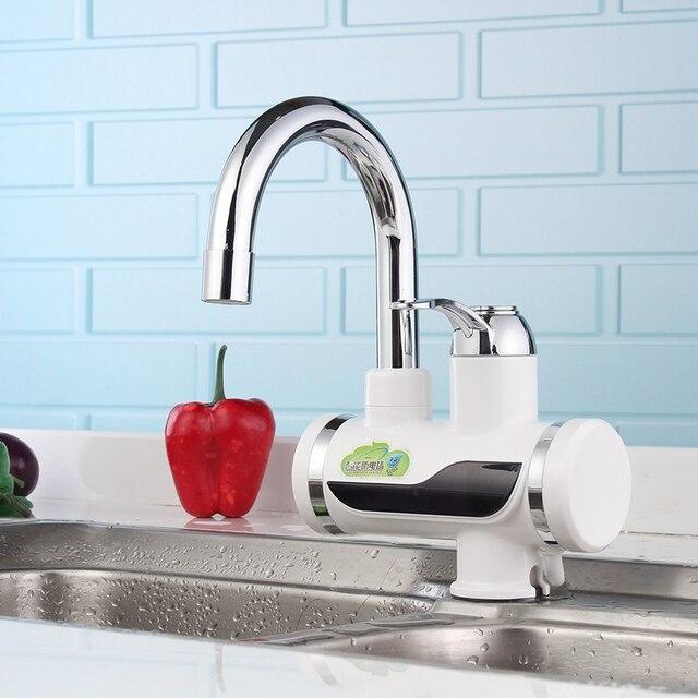 220 v instantane chauffe eau lectrique rapide led numrique cuisine robinet robinet mitigeur salle de - Robinet Eau Bouillante Instantanee